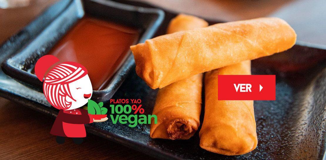 Vegan 100%  -  Restaurantes YAO Asian Cuisine